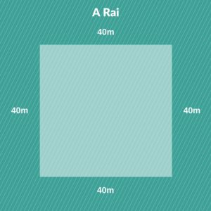 Thai land measurement - Rai