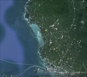 Wok Tum, Koh Phangan land plots for sale - larger location map