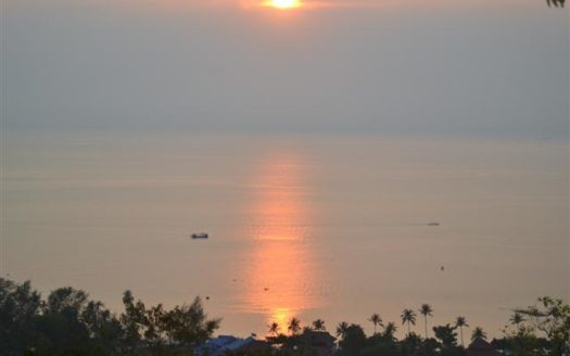 Koh Phangan west coast sunset sea view land