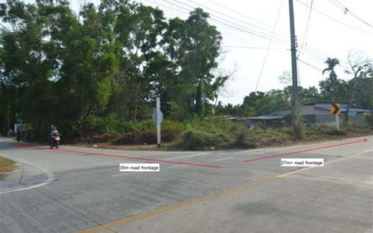 main road Tong Sala land for sale , Koh Phangan - anotated