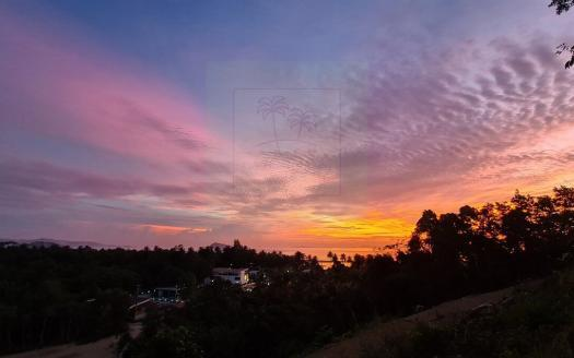 Koh Phangan sunset sea-view land for sale in beautiful Hin Kong 12 (2)